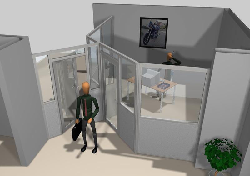 photos cloison amovible cabine atelier modulaire coulissante vitr e coupe feu alsace. Black Bedroom Furniture Sets. Home Design Ideas