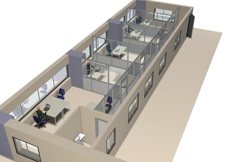Plan de bureaux bureaux à plan les ouates genève projet et