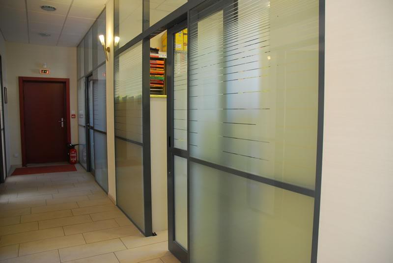 Cloison Avec Porte cloison amovible à couvre-joint, ossature aluminium epinal metz, 88