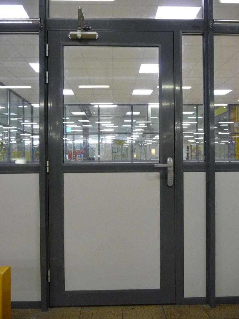 Portes Pour Cloisons Amovibles En Bois Verre Aluminium Nancy Metz - Porte aluminium vitrée
